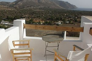 Traditional house, terrace with panoramic view, Tilos.  Photo 7