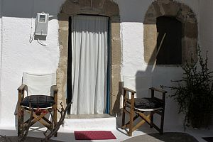 Traditional house, terrace with panoramic view, Tilos.  Photo 3