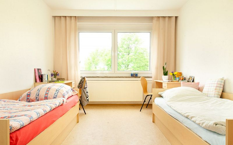 Modern furnished place in a double room. Photo 1