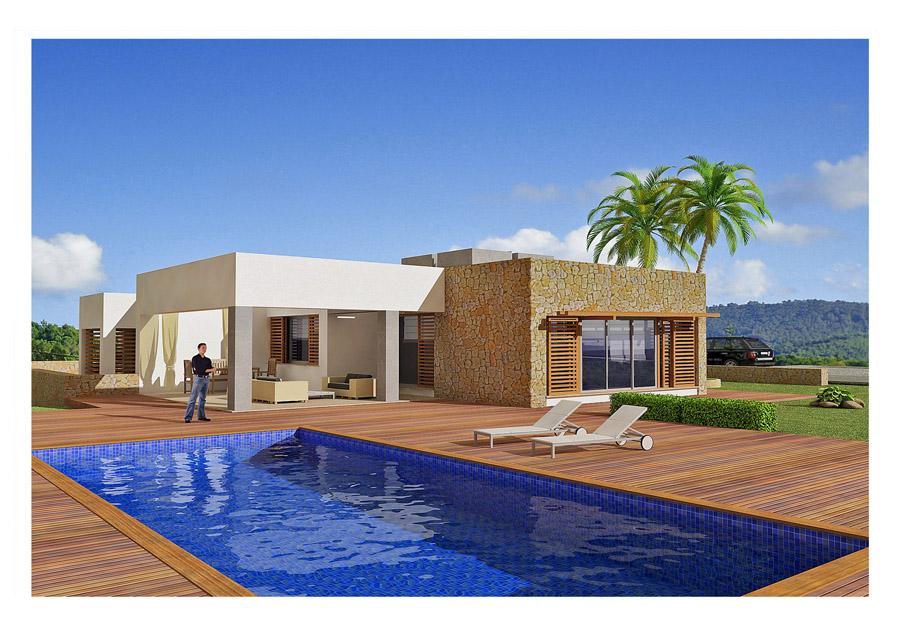Ibiza propri taire vend terrain avec maison du projet de for Projet de construction terrain maison